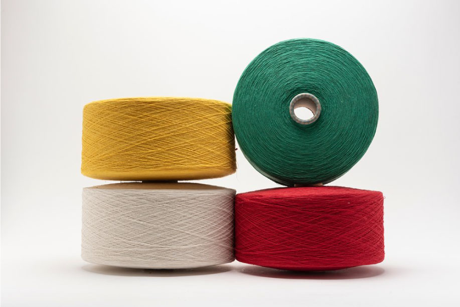 Yarns, strings, braids, nets and similar